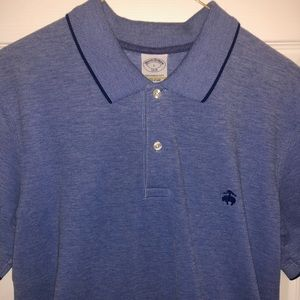 Brooks Brothers blue slim fit polo